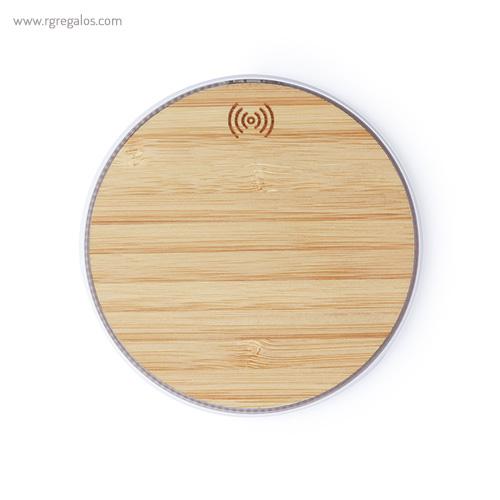 Cargador-inalámbrico-de-bambú-RG-regalos-empresa
