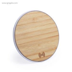 Cargador inalámbrico de bambú - RG regalos publicitarios