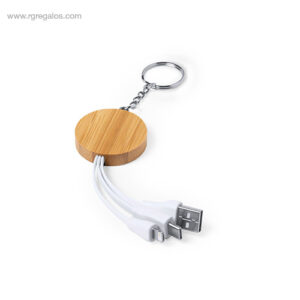 Cargador llavero bambú - RG regalos de empresa