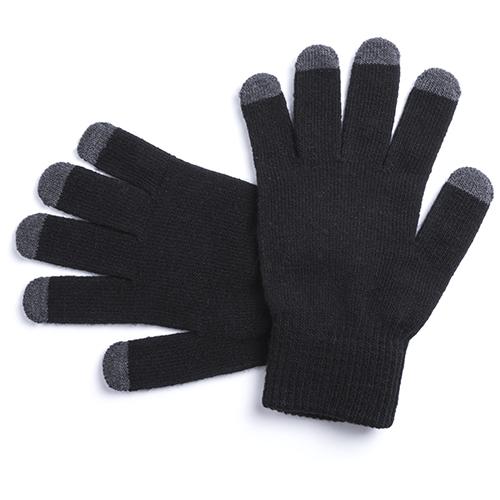 Guante táctil 5 dedos negro - RGregalos publicitarios