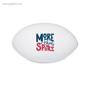 Pelota rugby antiestrés blanca - RG regalos promocionales