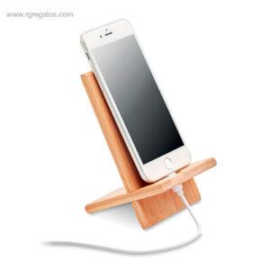 Soporte para móvil de bambú - RG regalos personalizados