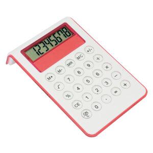 Calculadora bicolor roja Rgregalos