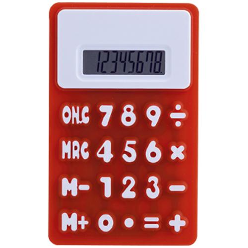 Calculadora en silicona roja Rgregalos