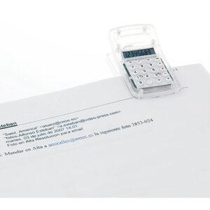 Calculadora transparente clip detalle RGregalos