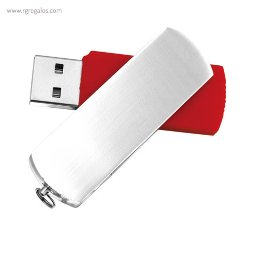 Memoria USB acabado mate rojo - RG regalos publicitarios