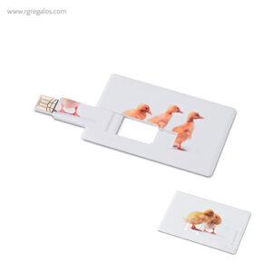 Memoria USB en forma de tarjeta - RG regalos publicitarios