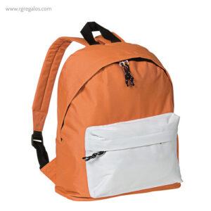 Mochila poliéster 600D bicolor naranja - RG regalos publicitarios