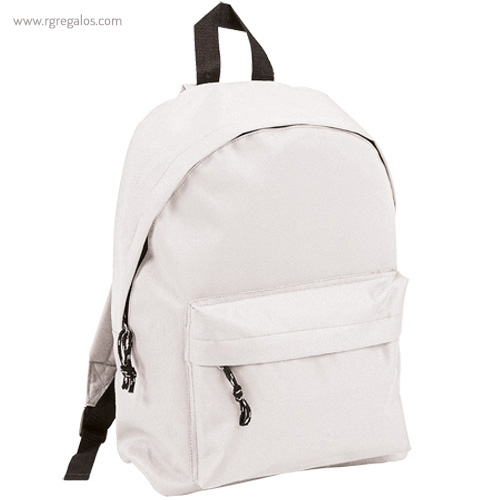 Mochila poliéster 600D color blanca - RG regalos publicitàrios
