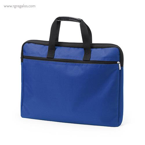 Portadocumentos de poliéster acolchado azul - RG regalos publicitarios