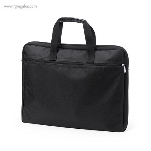 Portadocumentos de poliéster acolchado negro - RG regalos publicitarios