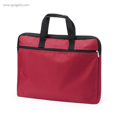 Portadocumentos de poliéster acolchado rojo - RG regalos publicitarios