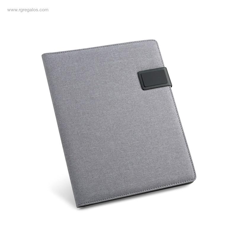 Portafolios-A4-símil-lino-gris-RG-regalos