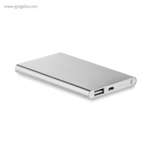 Power Bank 4000 mAh plano aluminio pack- RG regalos publicitarios