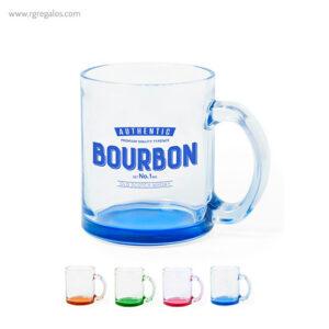 Taza de cristal base color - RG regalos publicitarios