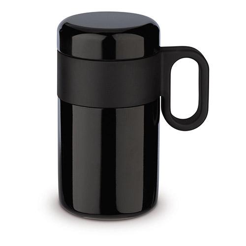 Termo doble capa de 250 ml negro - RGregalos