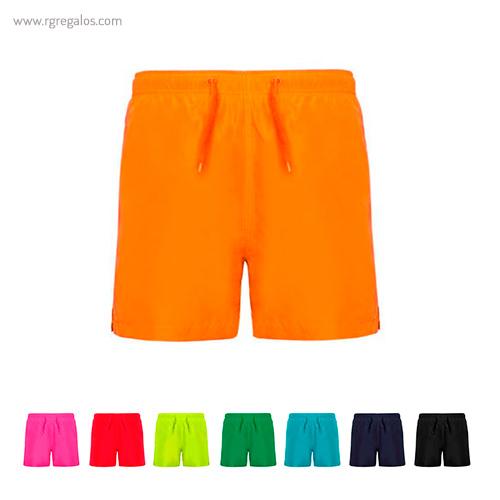 Bañador 100% poliéster bolsillos laterales colores - RG regalos publicitarios