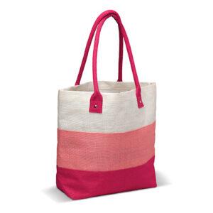 Bolsa de fibra natural de yute rosa- RGregalos