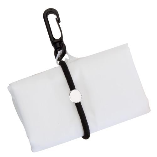 Bolsa plegable poliéster 190T blanca - Rgregalos