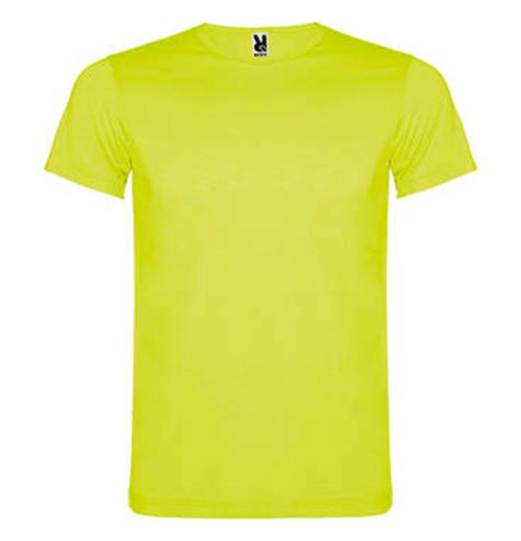 Camiseta 100% poliéster colores flúor amarillo - RGregalos publicitarios