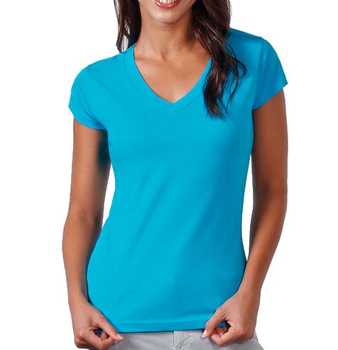Camiseta algodón cuello pico mujer - RGregalos