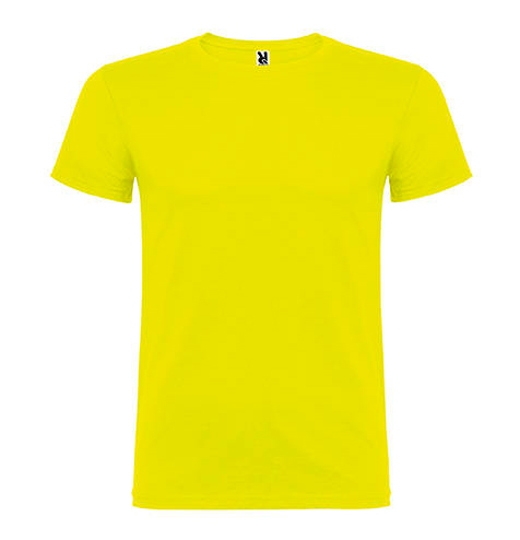 Camiseta 100% algodón manga corta 155 gr amarilla - RGregalos