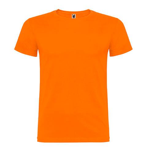 Camiseta 100% algodón manga corta 155 gr naranja - RGregalos