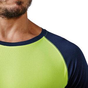 Camiseta técnica contraste hombre detalle - RGregalos