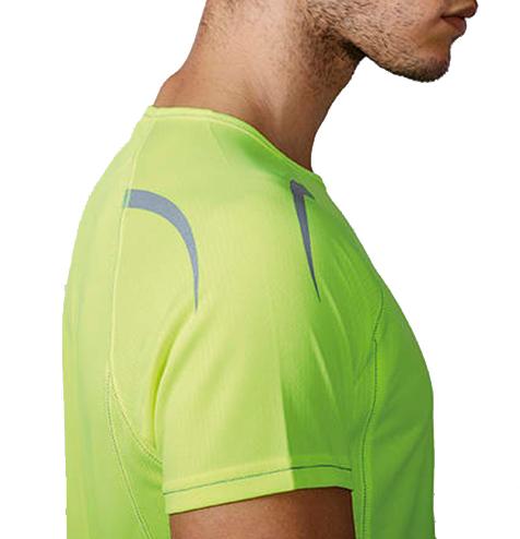 Camiseta técnica detalles reflectantes detalle - RGregalos