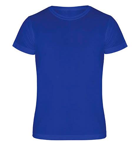 Camiseta técnica manga corta 135 gr azul - RGregalos