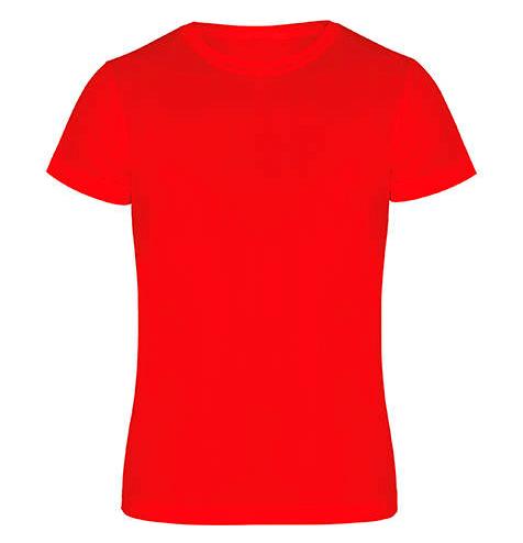 Camiseta técnica manga corta 135 gr roja - RGregalos