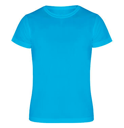 Camiseta técnica manga corta 135 gr turquesa - RGregalos