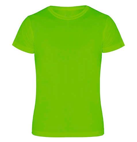 Camiseta técnica manga corta 135 gr verde - RGregalos