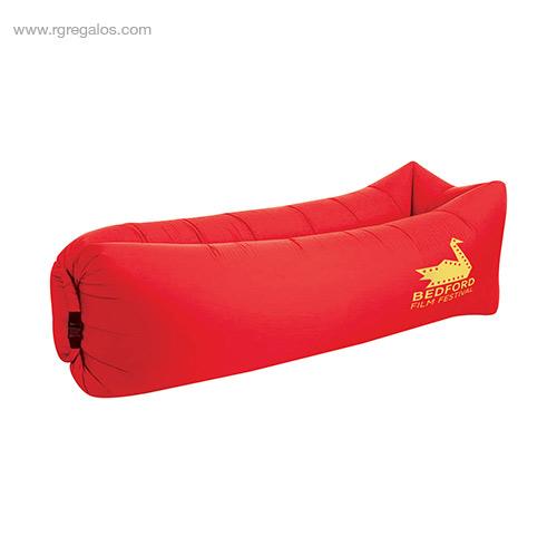 Colchón hinchable rápido rojo - RG regalos de empresa