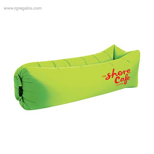 Colchón hinchable rápido verde - RG regalos de empresa