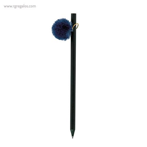 Lápiz con pompón azul - RG regalos publicitarios