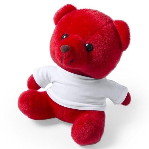 Oso de peluche con camiseta rojo - RGregalos