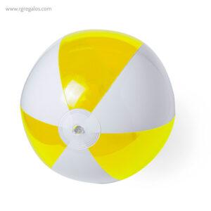 Pelota de playa personalizada bicolor amarilla - RG regalos publicitarios