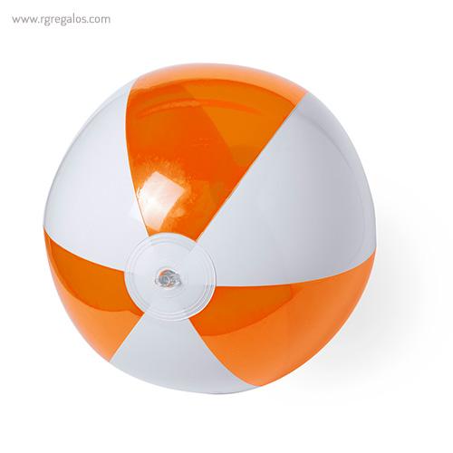 Pelota de playa personalizada bicolor naranja - RG regalos publicitarios