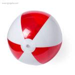 Pelota de playa personalizada bicolor roja 1 - RG regalos publicitarios