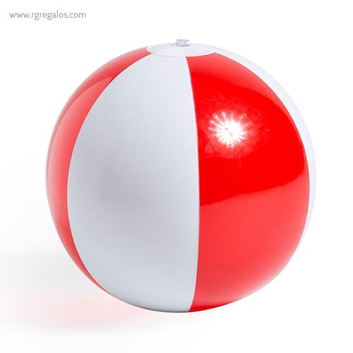 Pelota de playa personalizada bicolor roja - RG regalos publicitarios