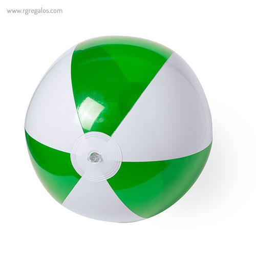 Pelota de playa personalizada bicolor verde - RG regalos publicitarios