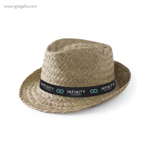 Sombrero de paja económico verdoso natural - RG regalos publcitarios