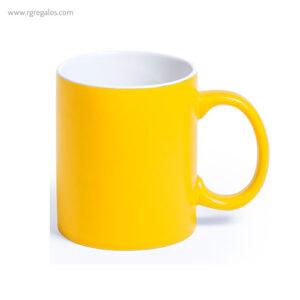 Taza de cerámica alta calidad amarilla - RG regalos publicitarios