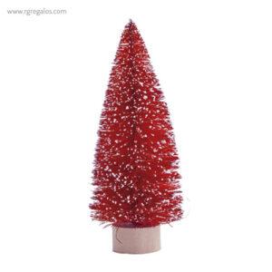 Árbol navidad con nieve rojo - RG regalos publicitarios