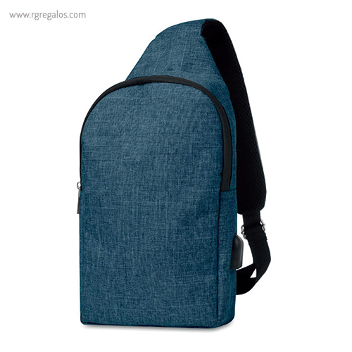 Bandolera de poliéster para portátil azul - RG regalos publicitairos