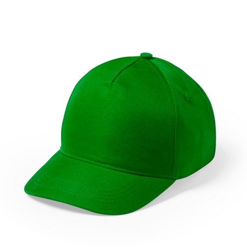 Gorra 5 paneles microfibra /poliéster verde - RGregalos publicitarios