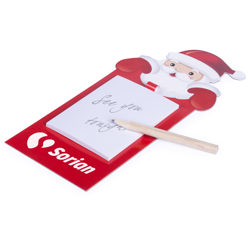 Imán navidad con bloc logo - RG regalos publicitarios