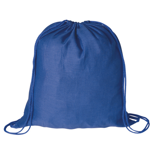 Mochila plana 100% algodón azul - RGregalos