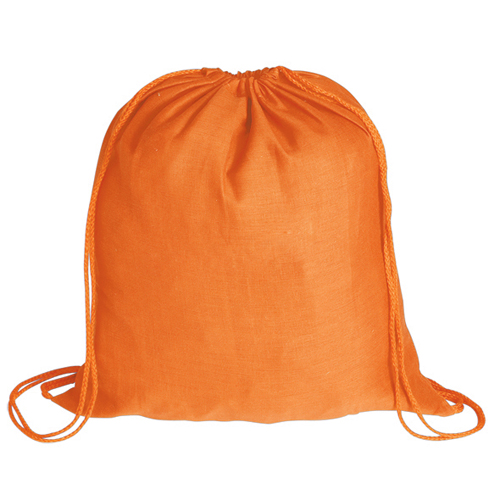 Mochila plana 100% algodón naranja - RGregalos